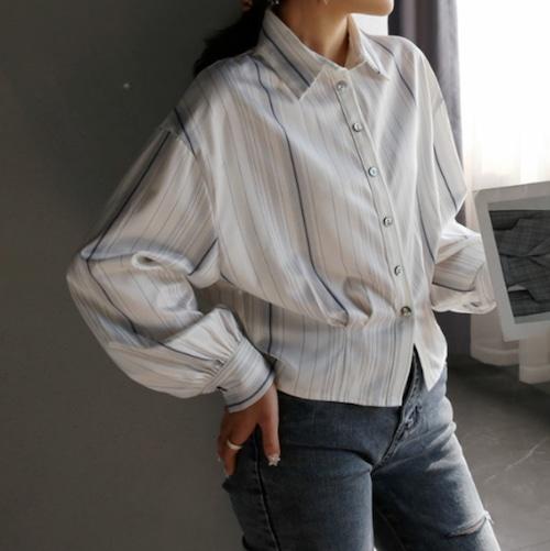 オールマッチストライプシャツ ・1646