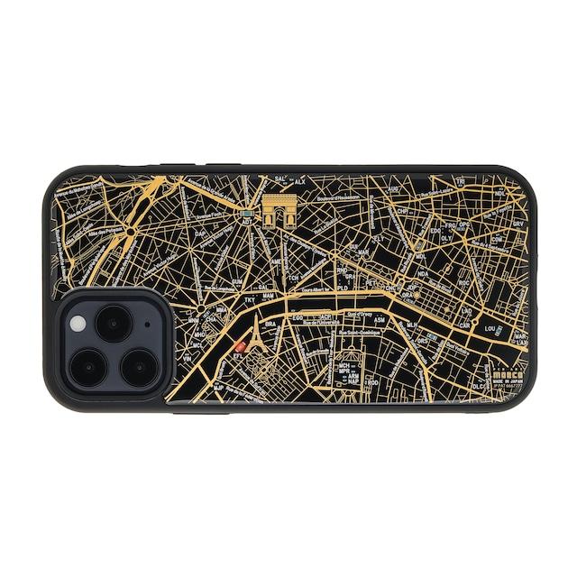 FLASH Paris回路地図 iPhone 12 / 12 Pro ケース  黒【東京回路線図A5クリアファイルをプレゼント】