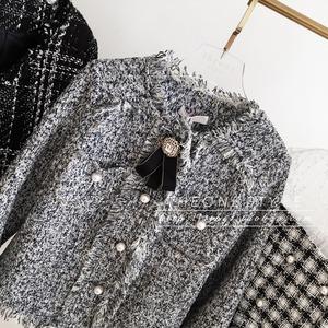 ♡ブローチ付きツイードジャケット