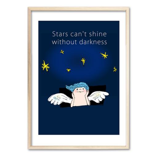 「闇と星/Stars can't shine without darkness」