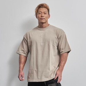 vertical  logo  big  T-shirt (ACID KHAKI)