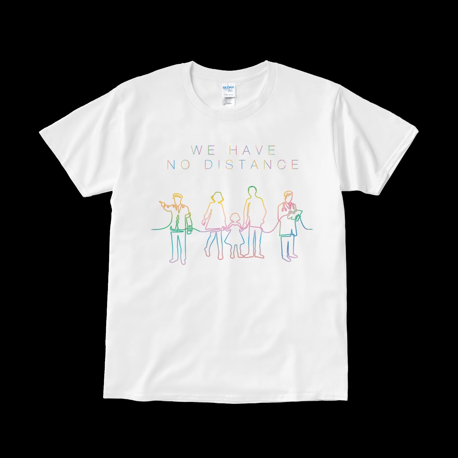 【再会を誓うTシャツ】「WE HAVE NO DISTANCE」タイプ004(送料無料)