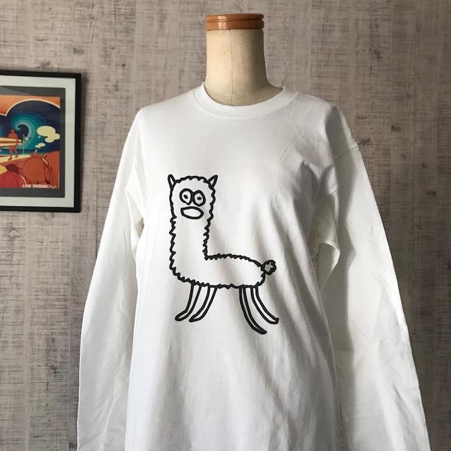 【巨匠動物園】アルパカさん長袖Tシャツ