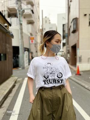 【PEANUTS】LADIES SNOOPY × DUSTANDROCKS Tシャツ ピーナッツ スヌーピー コラボレーション レディース