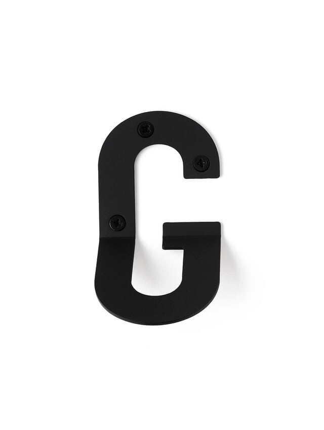 LETTER HOOK  G フック 壁掛け サイン 英文字 アルファベット