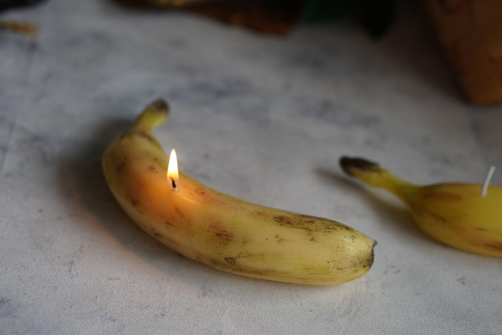 バナナのキャンドル