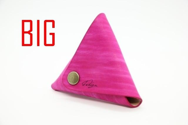美しい三角コインケース(つつじ) 大サイズ