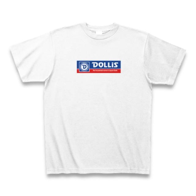 DOLLiS Tシャツ ステッカーロゴ 小(ホワイト)