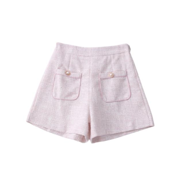 【ラスト1点送料無料】【即納】ツイードショートパンツ(Pink)