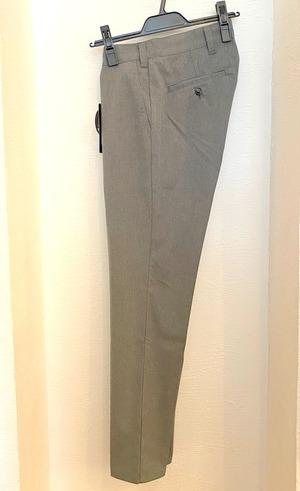 Gabardine Stretch Slacks Pants Charcoal Gray