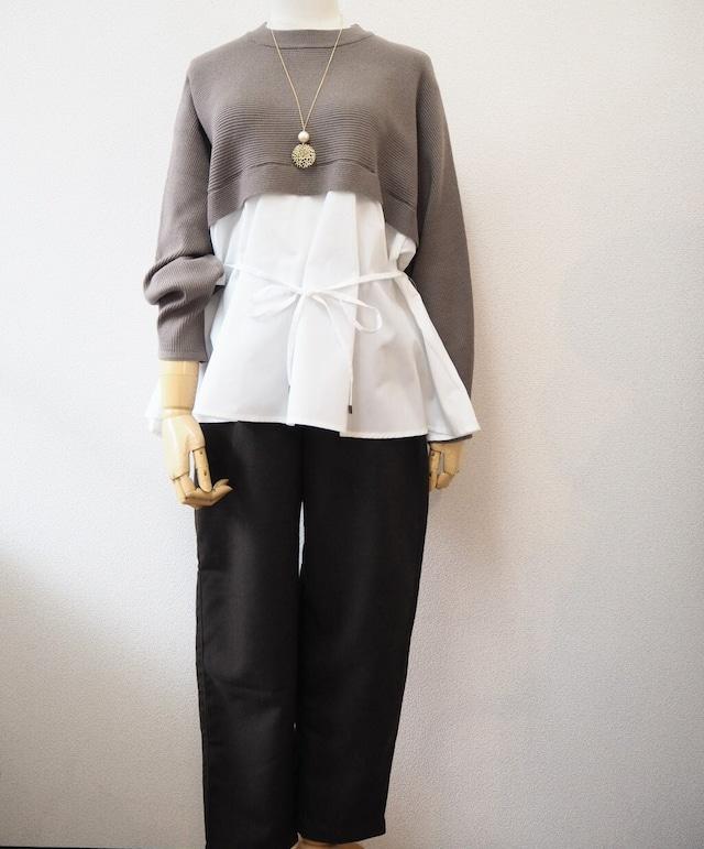 half knit blouse