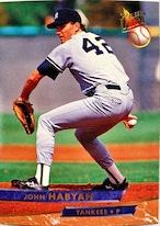 MLBカード 93FLEER John Habyan #241 YANKEES