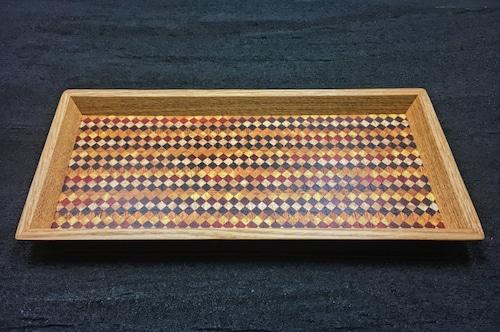 wood checker mini tray 0092