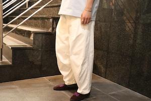 【SETTO】DOKONO PANTS (WHT) ユニセックス ワイドパンツ 日本製 岡山 児島
