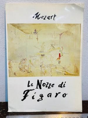 Mozart  Le Nozze di Figaro  フィガロの結婚オペラパンフレット