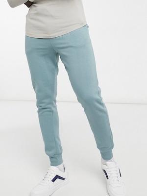 slim fit jogger pants / dusty green