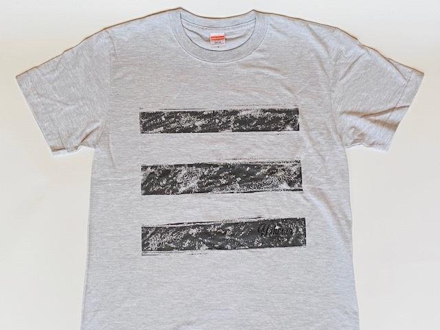 スリーラインロゴTシャツ(アッシュ)