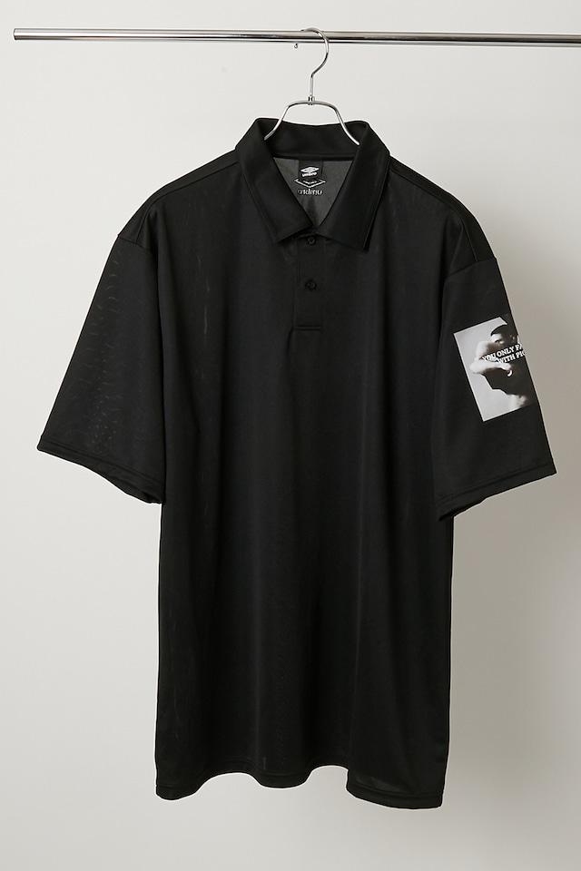 【UMBRO×ALMOSTBLACK×Peter De Potter】Dry Polo Shirt / Black / ULUQJA70AL