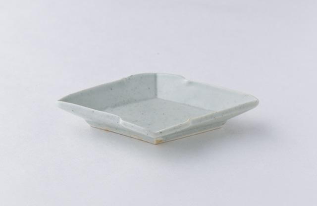 吉田崇昭 白磁松皮菱形皿