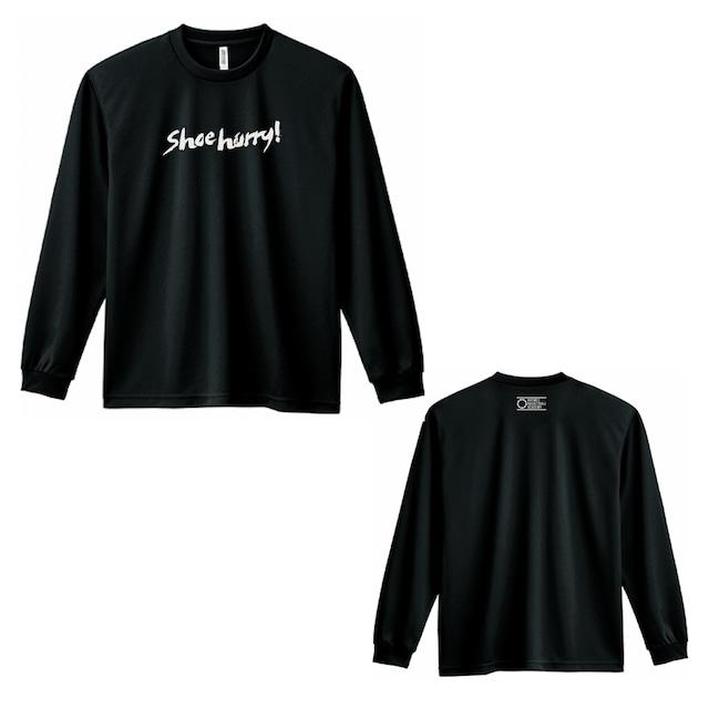 SHOEHURRY! DRY LONG T-SHIRTS|ドライロングTシャツ(ブラック/ホワイト)