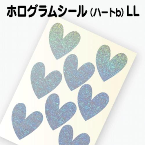 【ホログラム ハートシールB 】LL(3.5cm×3.8cm)