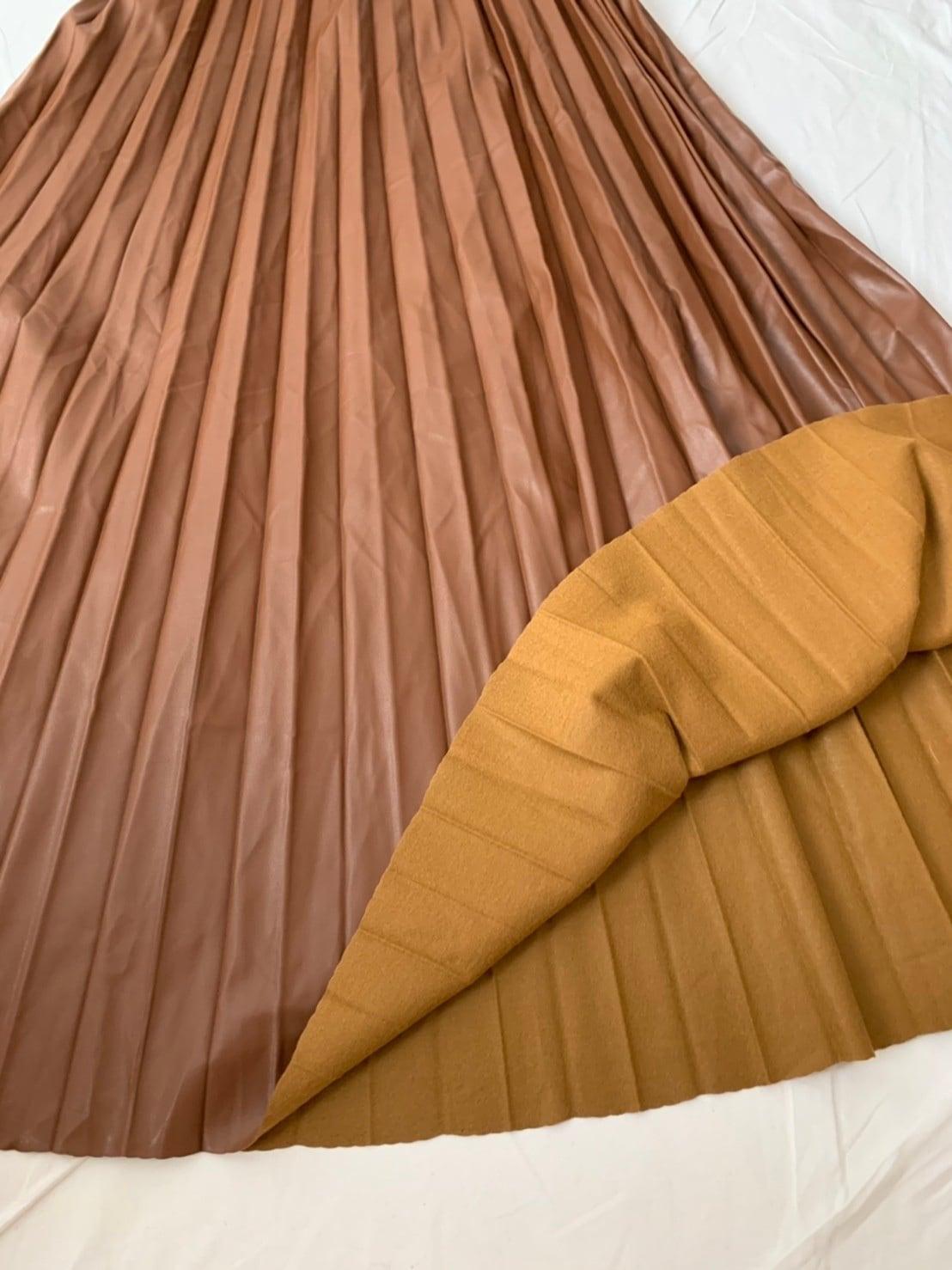 【asyu】eco leather skirt