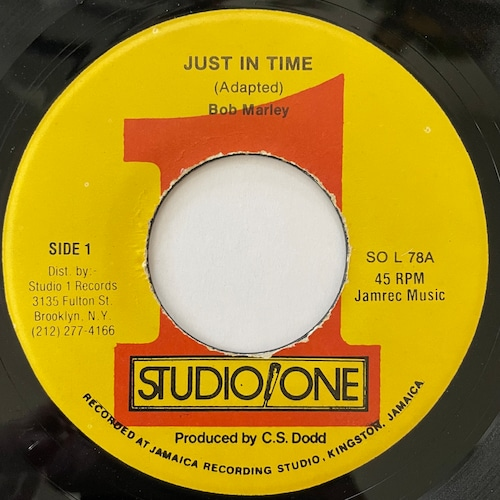 Bob Marley - Just In Time【7-20778】