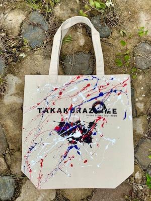 TAKAKURAZOME USツアートートバッグ(生成り)