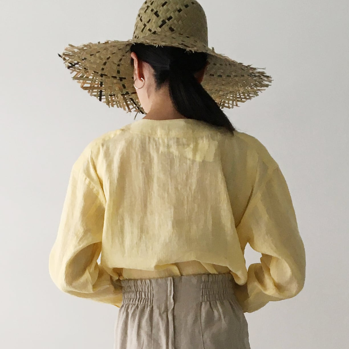 """One side pocket top """"light yellow"""""""