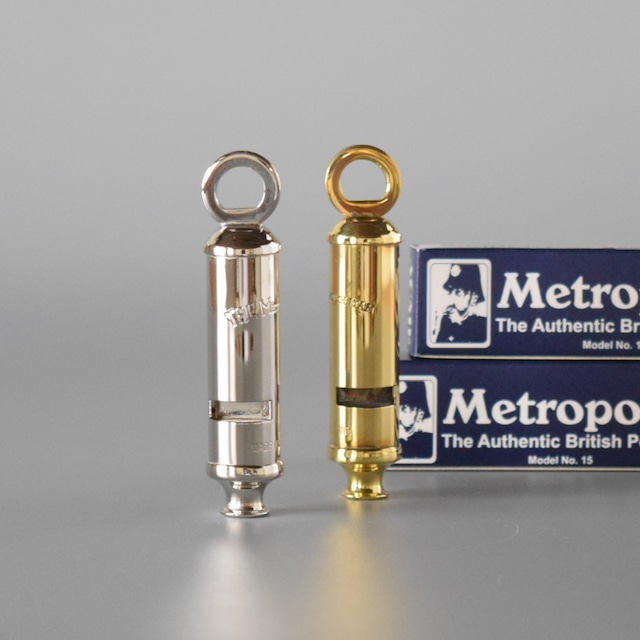 "Metropolitan Police Whistle 15 ""Brass"" メトロポリタン ポリス ホイッスル 15   真鍮製 / ニッケル製 ホイッスル"