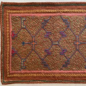 刺繍のカフェマット8 刺子風 南米シピボ族の手刺繍