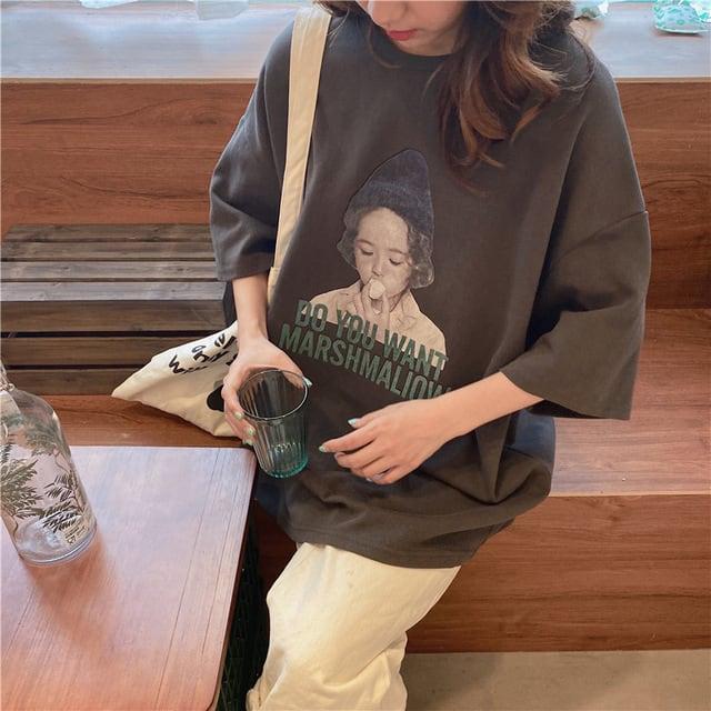 ガールプリントTシャツ YH7462