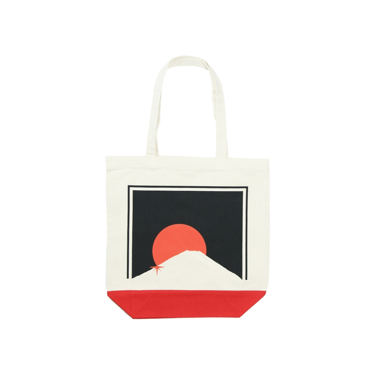 M't Blazz CANVAS TOTE BAG [NATURAL x RED]