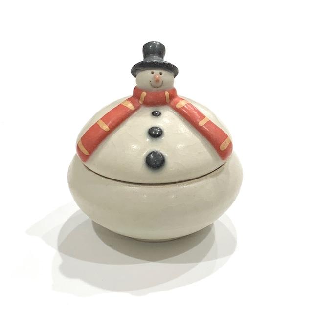 【ご予約】スノーマン 山高帽 蓋物《八木下裕》