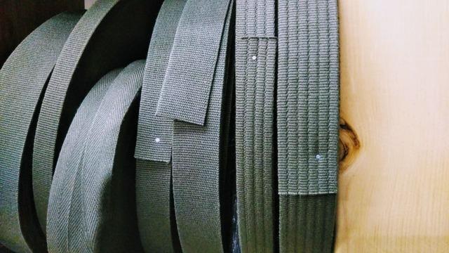 アクリルテープ 平コール織 38㎜幅 黒/カラー 5m単位