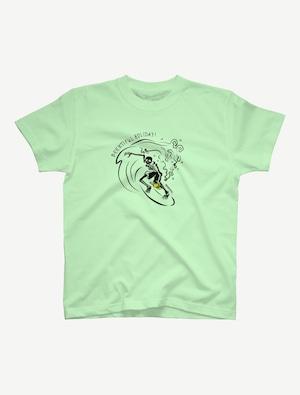 【サーフィンガイコツ】Tシャツ(メロン)