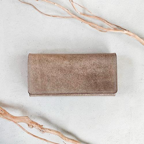 ホワイトレッドグレイッシュの長財布
