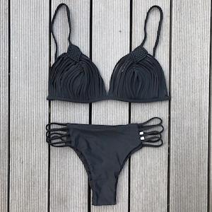Bikini♡ストラッピーギャザービキニ ブラック