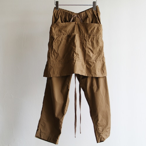 H.UNIT【 mens 】weather cloth apron easy pants