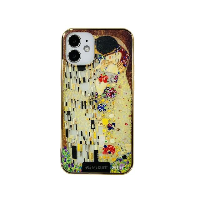 【液体無し】ARTiFY iPhone 12 mini メッキTPU スマホケース クリムト キス AJ00633