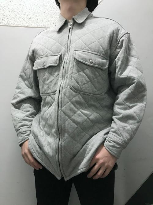 90's J.CREW スウェットキルティングシャツ