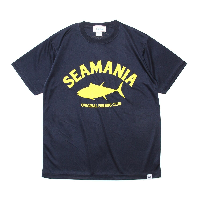 【Seamania】アーチロゴデザインdryTシャツ [NAVY]