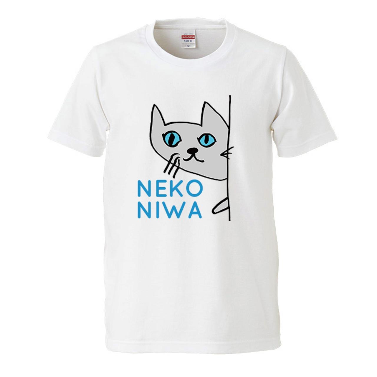 【猫庭Tシャツ】グレー 全国送料無料!!