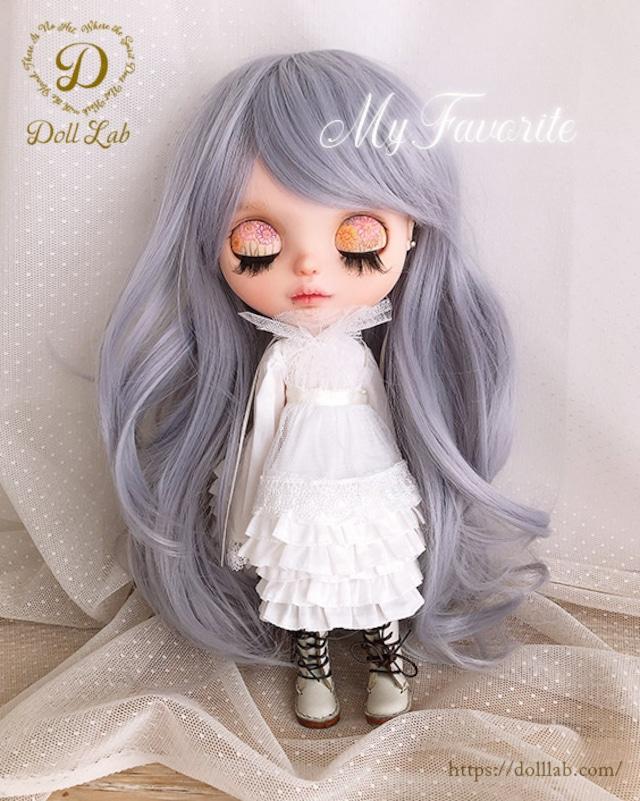 プリンセスシフォン[12inch 髪ありブライス ]モーヴシルバー  DWL009-A141-12in
