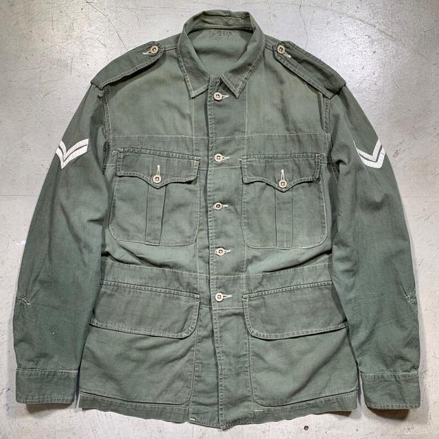 Special 40's British Army Bush Jacket S.C.C. 19 Green イギリス軍 ブッシュジャケット Supercraft Garments Ltd 1947年 WW II  Size7 希少 ヴィンテージ BA-1606 RM2025H