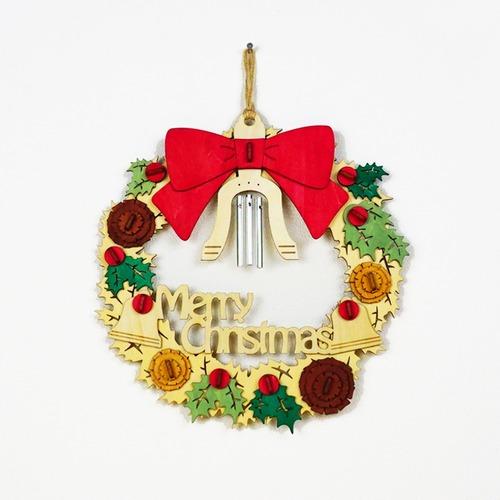 「クリスマスリース」木製リース