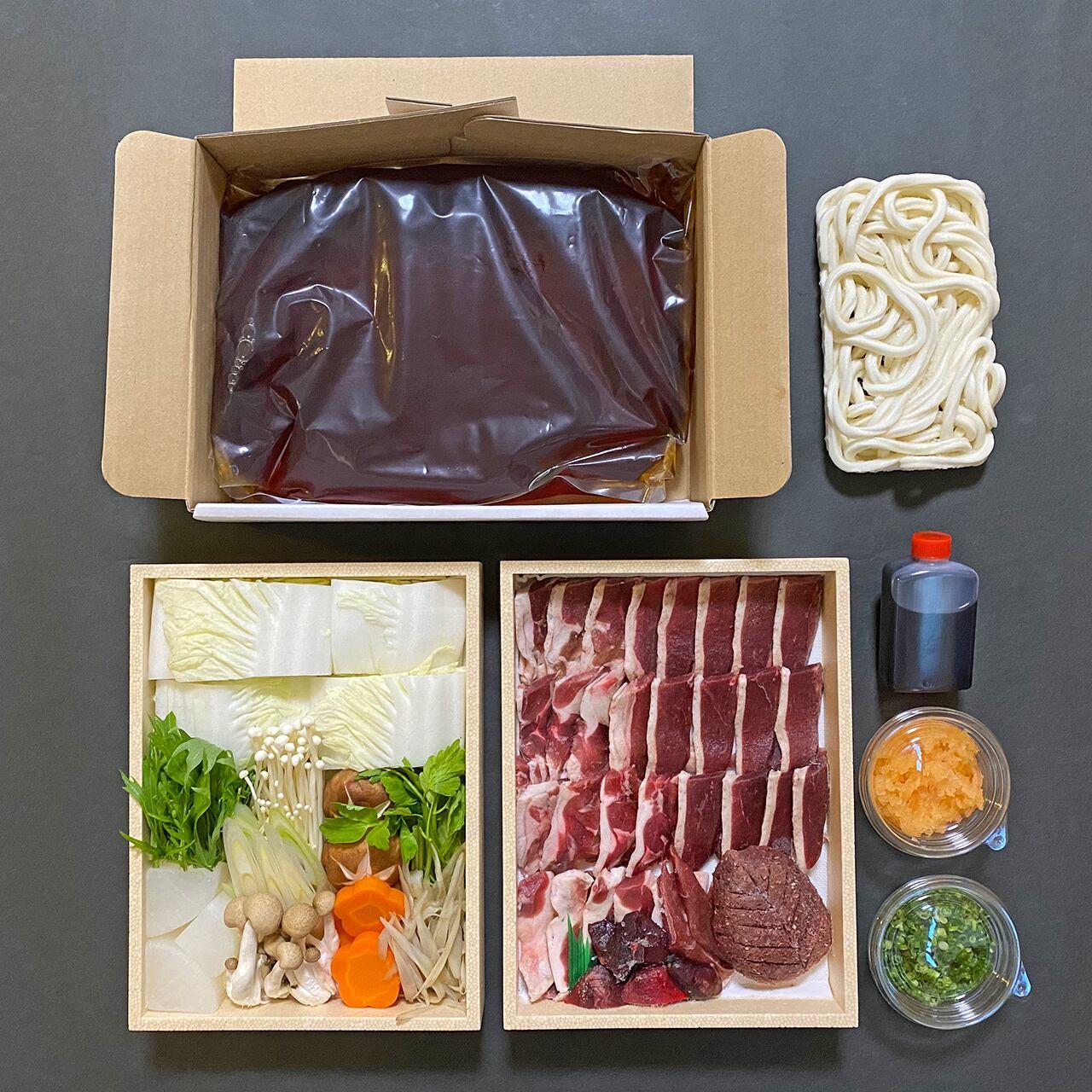 鴨なべ・野菜セット(2~3人前)