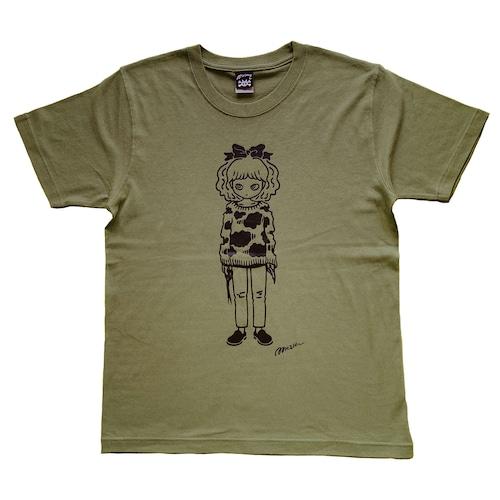""" Easy thing "" Tシャツ ライトオリーブ  [ T-017]MIKAZUKI / ミカヅキ"