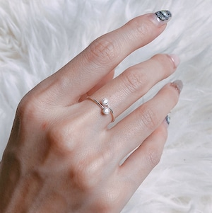 Twin ring / silver