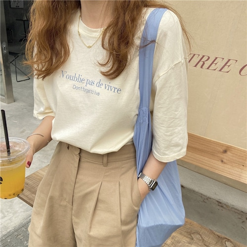 ツートーンロゴTシャツ U5948